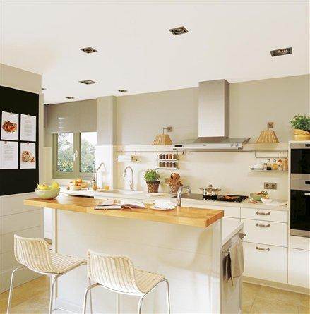 Cocinas la home for Cocinas modernas con barra