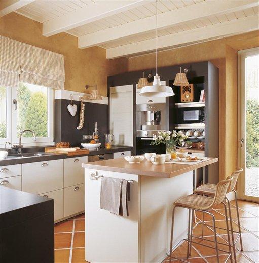 Cocinas La Home: barra cocina madera